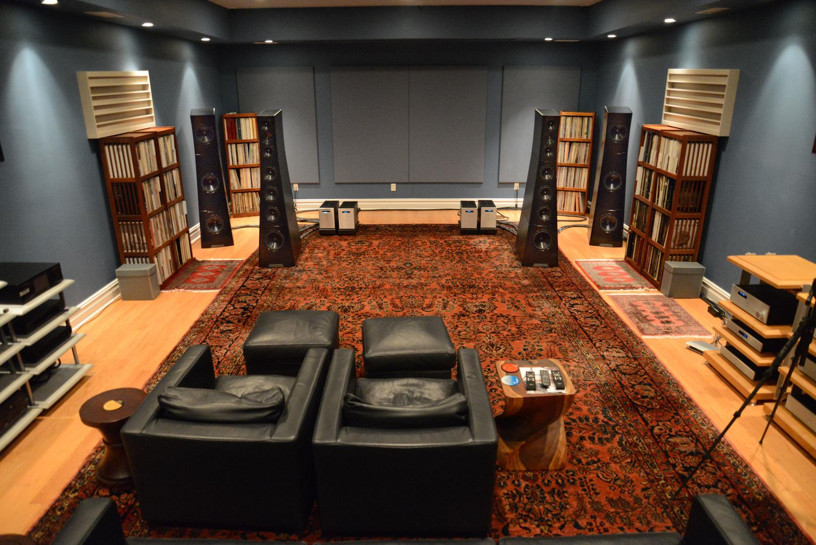 Photo of the primary listening room at GTT Audio-Video