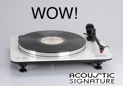 "Acoustic Signature Introduces ""WOW!"" Turntable"