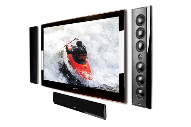 World's Thinnest  High-Performance On-Wall Home Theater Loudspeaker
