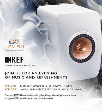 An Evening with KEF: Featuring Special Guest Johan Coorg