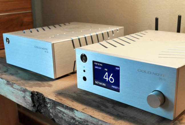 Gold Note DS‑10 streaming DAC preamp and PA‑10 power amplifiers