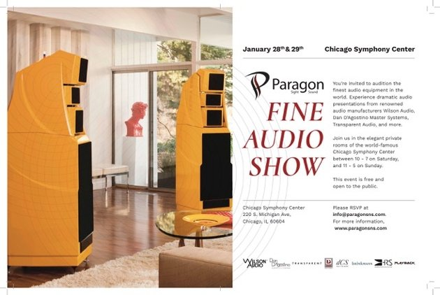 Paragon Sight & Sound Fine Audio Show in Chicago Jan 28 and 29