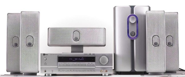 SLS Q-Line Silver 5.1-Channel Speaker System and A/V Receiver
