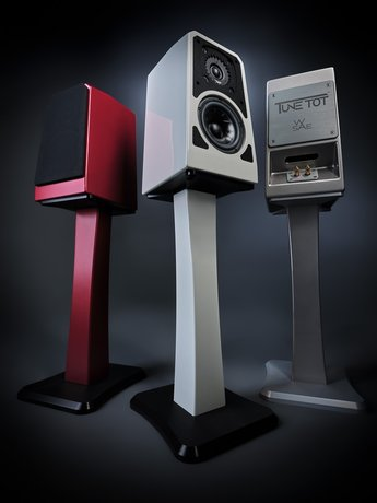 Wilson Audio TuneTots with TuneTot stands