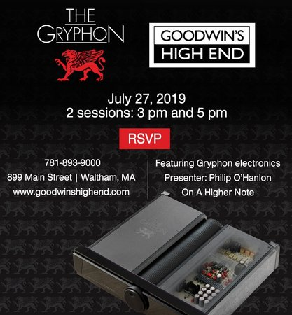 Goodwin's High End Announces Launch of Gryphon Electronics at their Store
