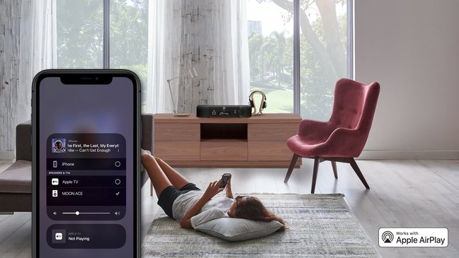 MOON PRODUCTS NOW FEATURE APPLE AIRPLAY 2