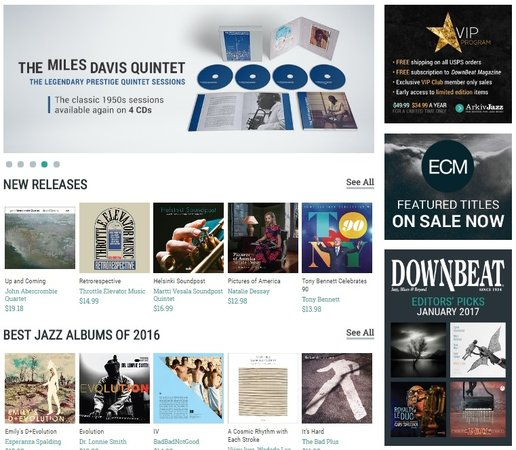 Naxos of America Launches Website Dedicated to Jazz Retail
