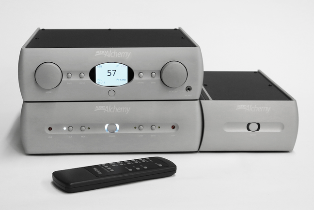 Audio Alchemy DDP-1 Preamp/DAC/Headphone Amp, DPA-1 Stereo Power Amp, and DPA-1M Monoblock Power Amp
