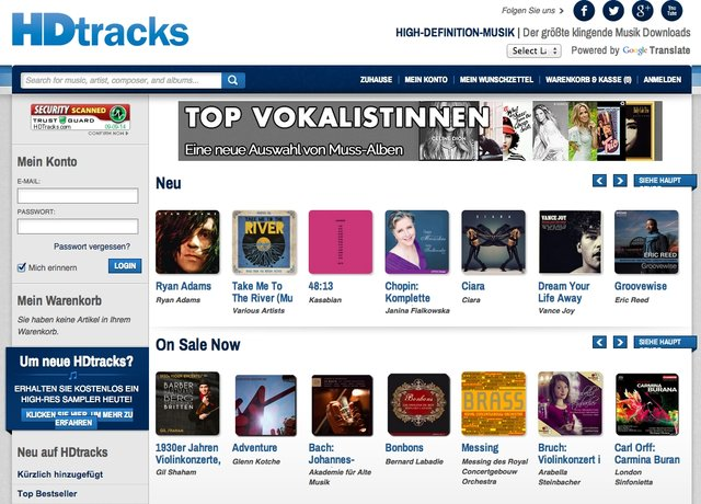 HDtracks Launches in Germany and UK