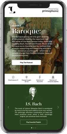 Ludwig, a 10-week digital classical music crash course launched by Primephonic