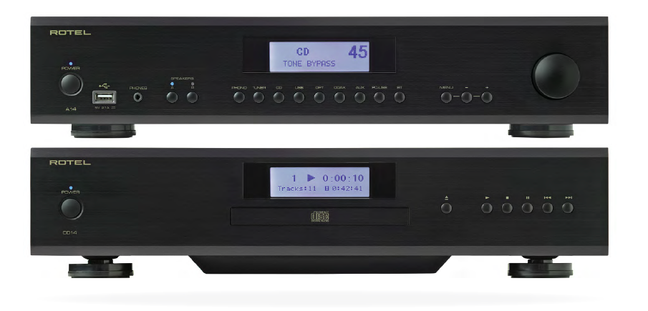 Rotel A14 Integrated Amplifier/DAC and CD14 CD Player