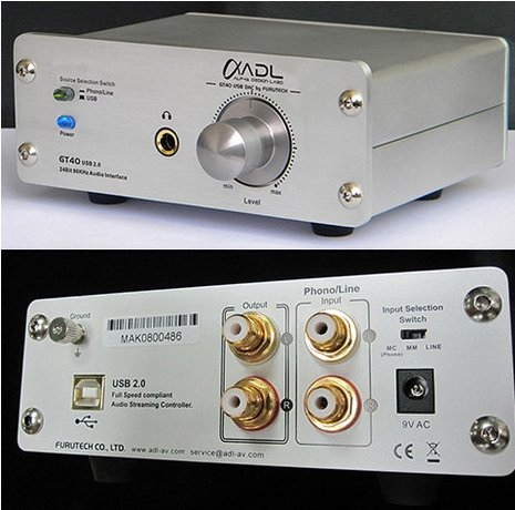 Alpha Design Labs/Furutech GT40 24/96 USB DAC/Analog Recorder