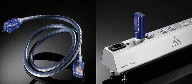 Shunyata Venom PS8 Power Distributor, Venom Defender, and Venom HC Power Cords