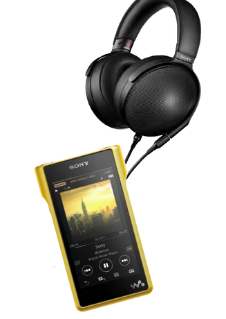 Sony NW-WM1Z Portable Player and MDR-Z1R Headphones